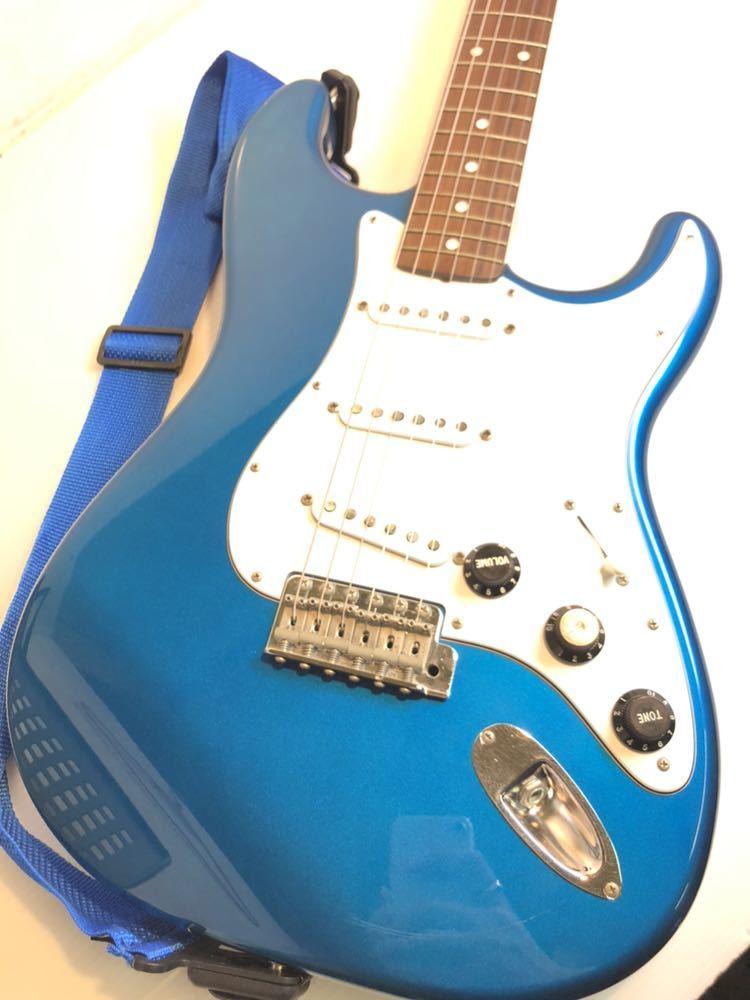※Fender/フェンダー ジャパン ストラトキャスター エレキギター STRATOCASTER Qシリアル ブルー バッグ付き 現状品_画像2