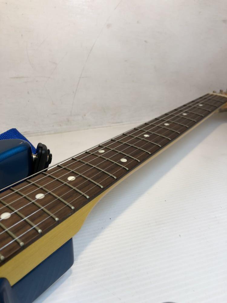 ※Fender/フェンダー ジャパン ストラトキャスター エレキギター STRATOCASTER Qシリアル ブルー バッグ付き 現状品_画像4