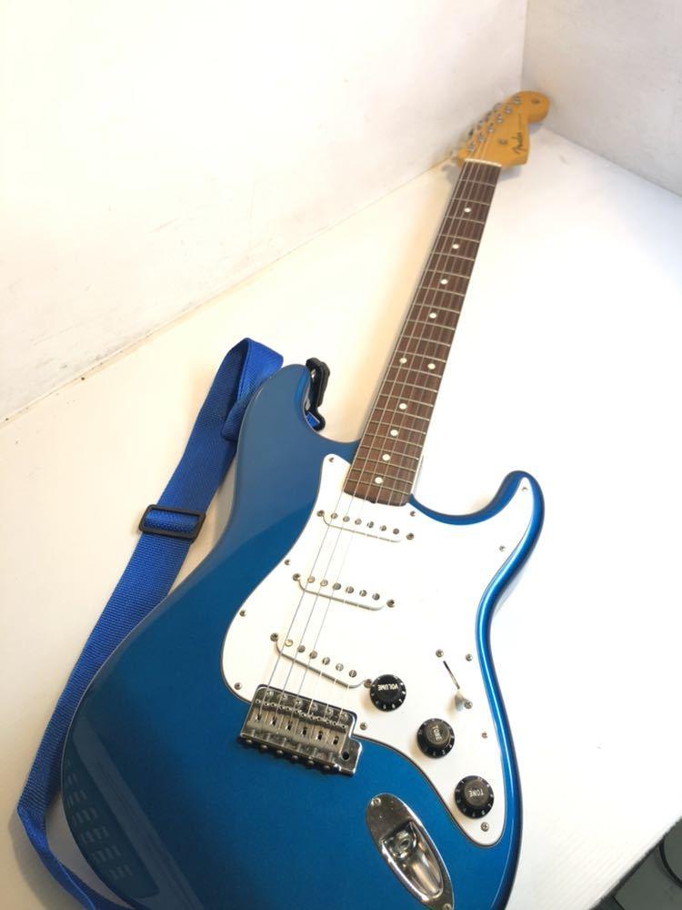 ※Fender/フェンダー ジャパン ストラトキャスター エレキギター STRATOCASTER Qシリアル ブルー バッグ付き 現状品