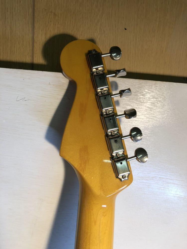 ※Fender/フェンダー ジャパン ストラトキャスター エレキギター STRATOCASTER Qシリアル ブルー バッグ付き 現状品_画像8