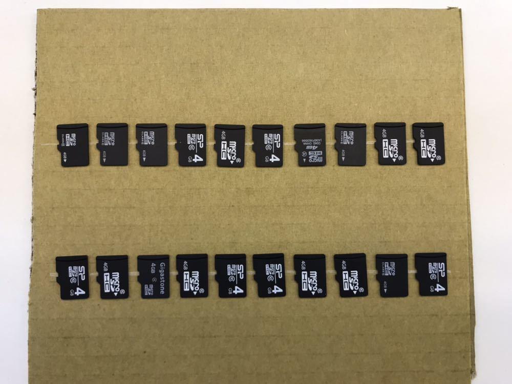 バルク microSDカード 4GB 20枚セット