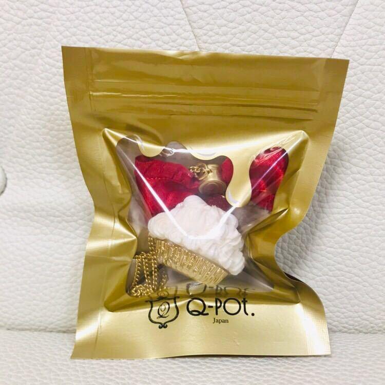 Q-pot. Tommy コラボ 限定 ラズベリー カップケーキ ネックレス ホイップ february heavenly 赤リボン_画像4