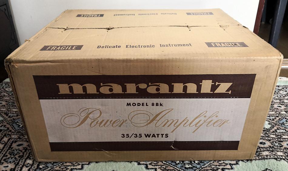デッドストック未使用 開封のみ Marantz マランツ model 8bk ステレオパワーアンプ 未組立