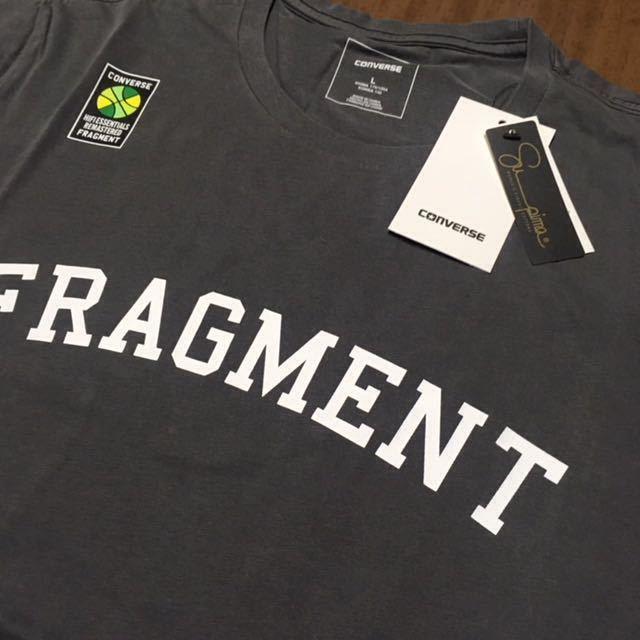 SIZE L FRAGMENT DESIGN x CONVERSE ESSENTIAL TEE フラグメントデザイン コンバース エッセンシャル Tシャツ_画像2