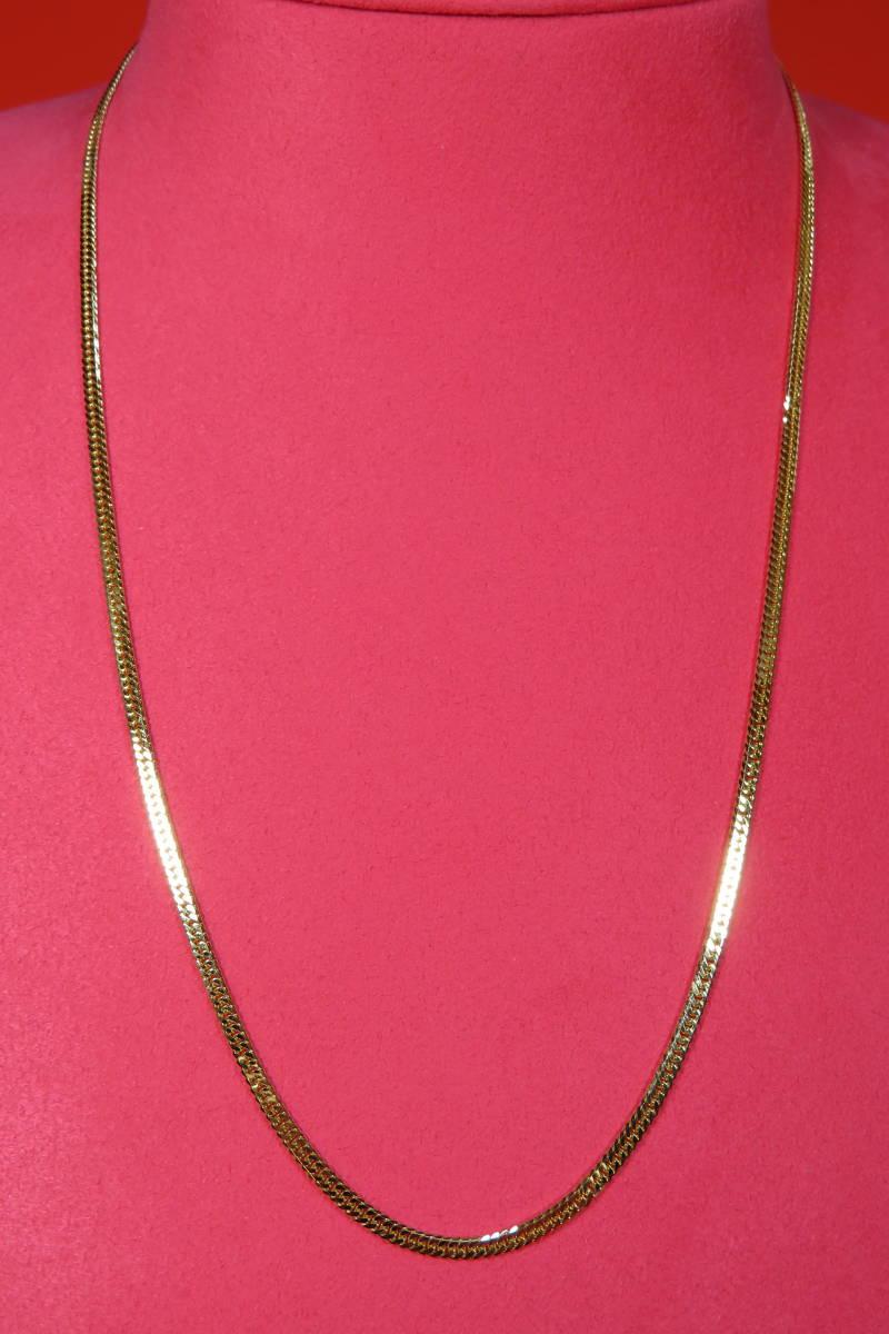 新品 k18 イエローゴールド 喜平ネックレス 6 面カット    50 cm_画像1
