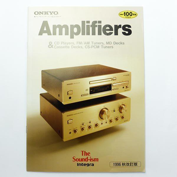 ONKYO Integra カタログ 1996 アンプ CDプレーヤー チューナー MDデッキ カセットデッキ A-929 A-927 C-729 インテグラ オンキヨー