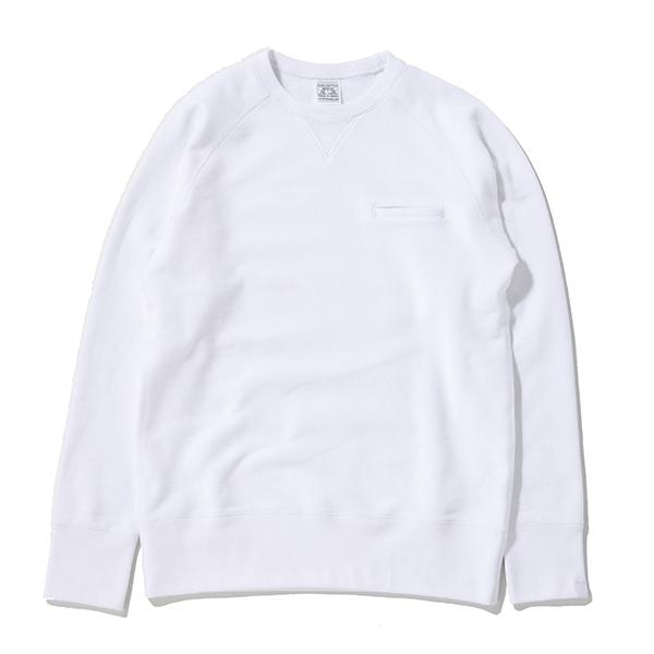 即完売 新色 LOOPWHEELER ループウィラー Begin別注 新・首ゆるスウェット White ホワイト sweat shirts LW light ライト BEAMS ビームス