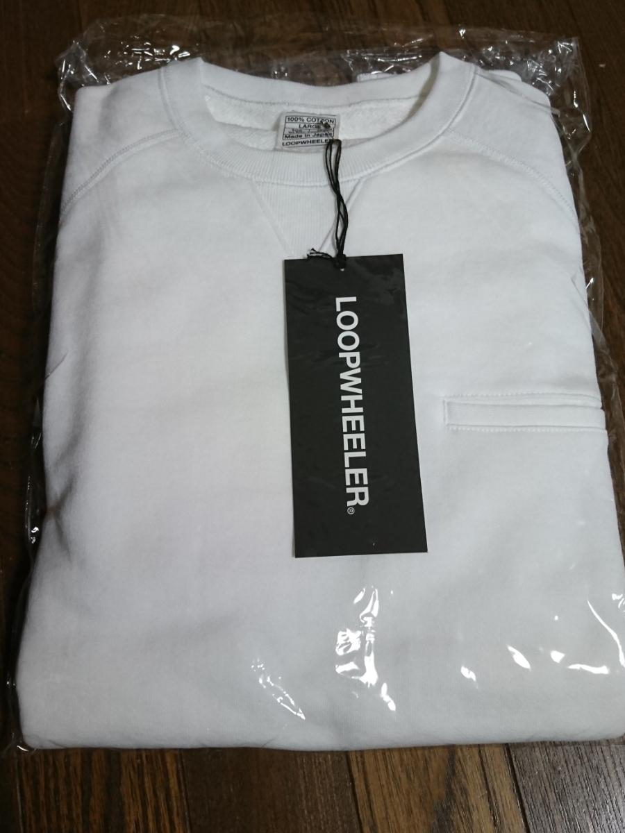 即完売 新色 LOOPWHEELER ループウィラー Begin別注 新・首ゆるスウェット White ホワイト sweat shirts LW light ライト BEAMS ビームス_画像2