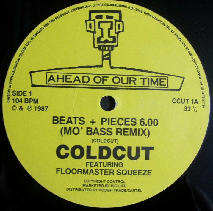 COLDCUT - BEATS + PEACES (MO' BASS REMIX) / THAT GREEDY BEAT 12インチ (UK/ 1987年 / Ahead Of Our Time CCUT 1A)(CUT & PASTE)_画像4