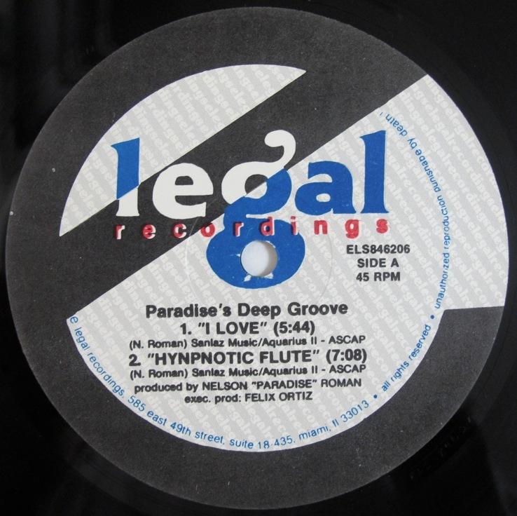 "Paradise's Deep Groove I Love 12インチ (US / 1992年 / E Legal ELS846206) (Nelson ""Paradise"" Roman)_画像1"