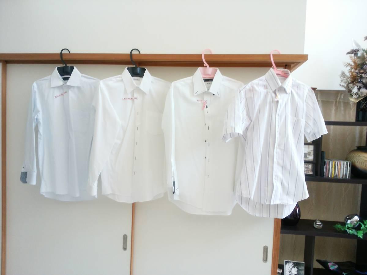 美品・クリーニング済み商品、4点まとめて出品【メンズ・長袖シャツ・サイズ:M】