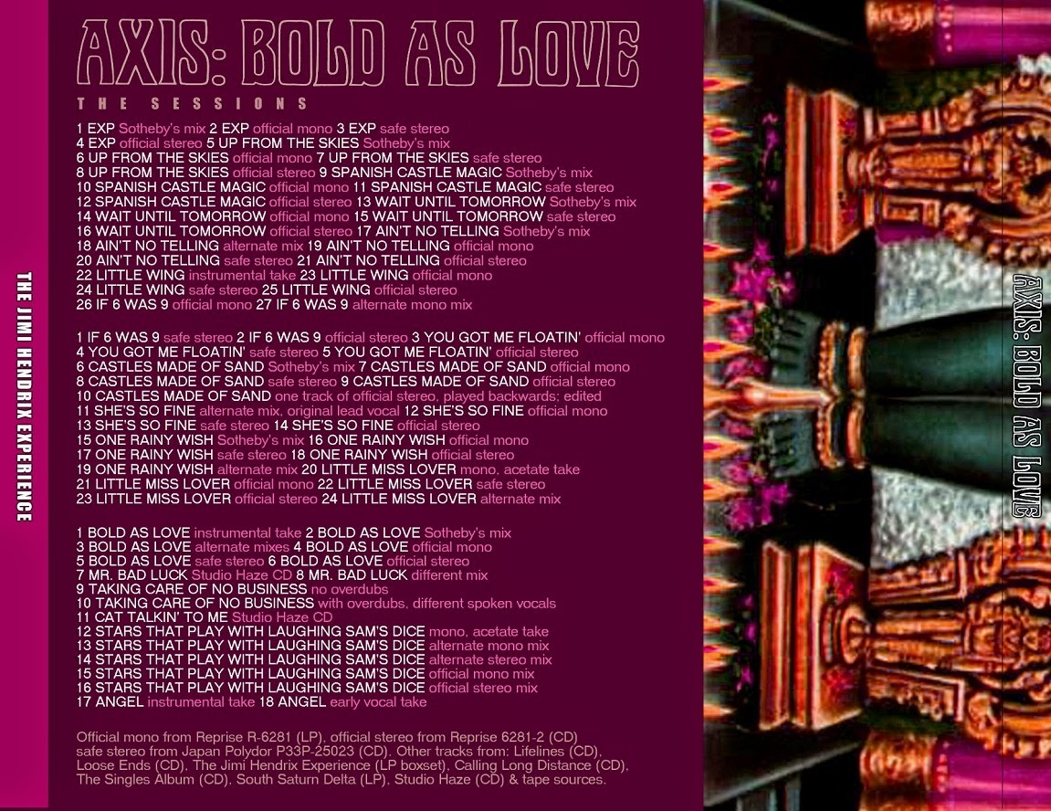 Jimi Hendrix - Axis: Bold As Love Sessions Outtakes 3CD_画像2