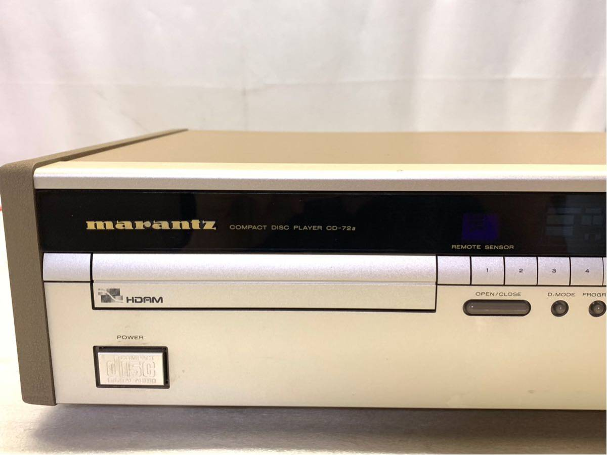 marantz CD-72a CD PLAYER Junk reproduction could do tray with defect 003