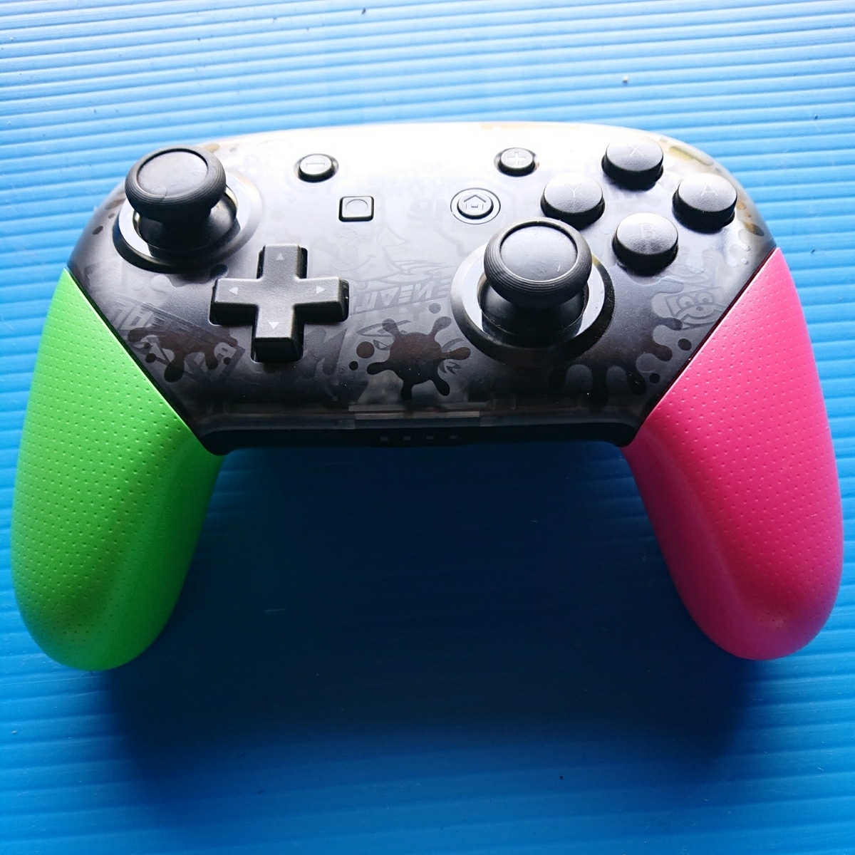 【動作未確認・ジャンク扱い】switch スイッチ コントローラー Nintendo Proコントローラー スプラトゥーン2 エディション 任天堂 純正
