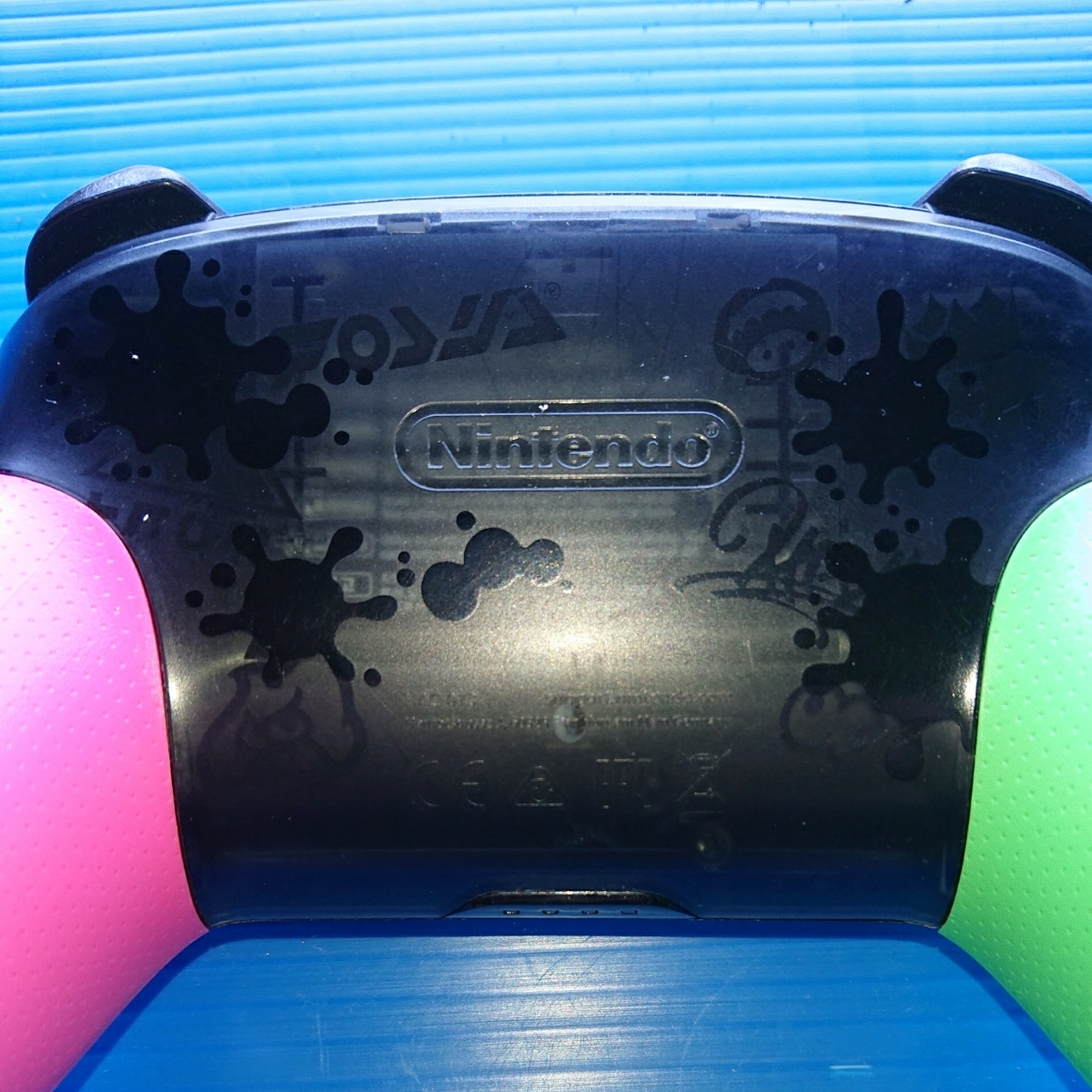 【動作未確認・ジャンク扱い】switch スイッチ コントローラー Nintendo Proコントローラー スプラトゥーン2 エディション 任天堂 純正_画像6