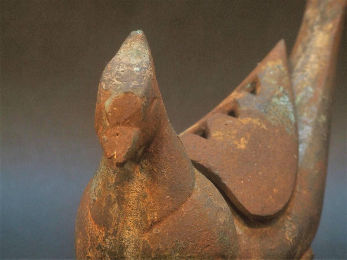 鉄製 鳥形香炉_画像1