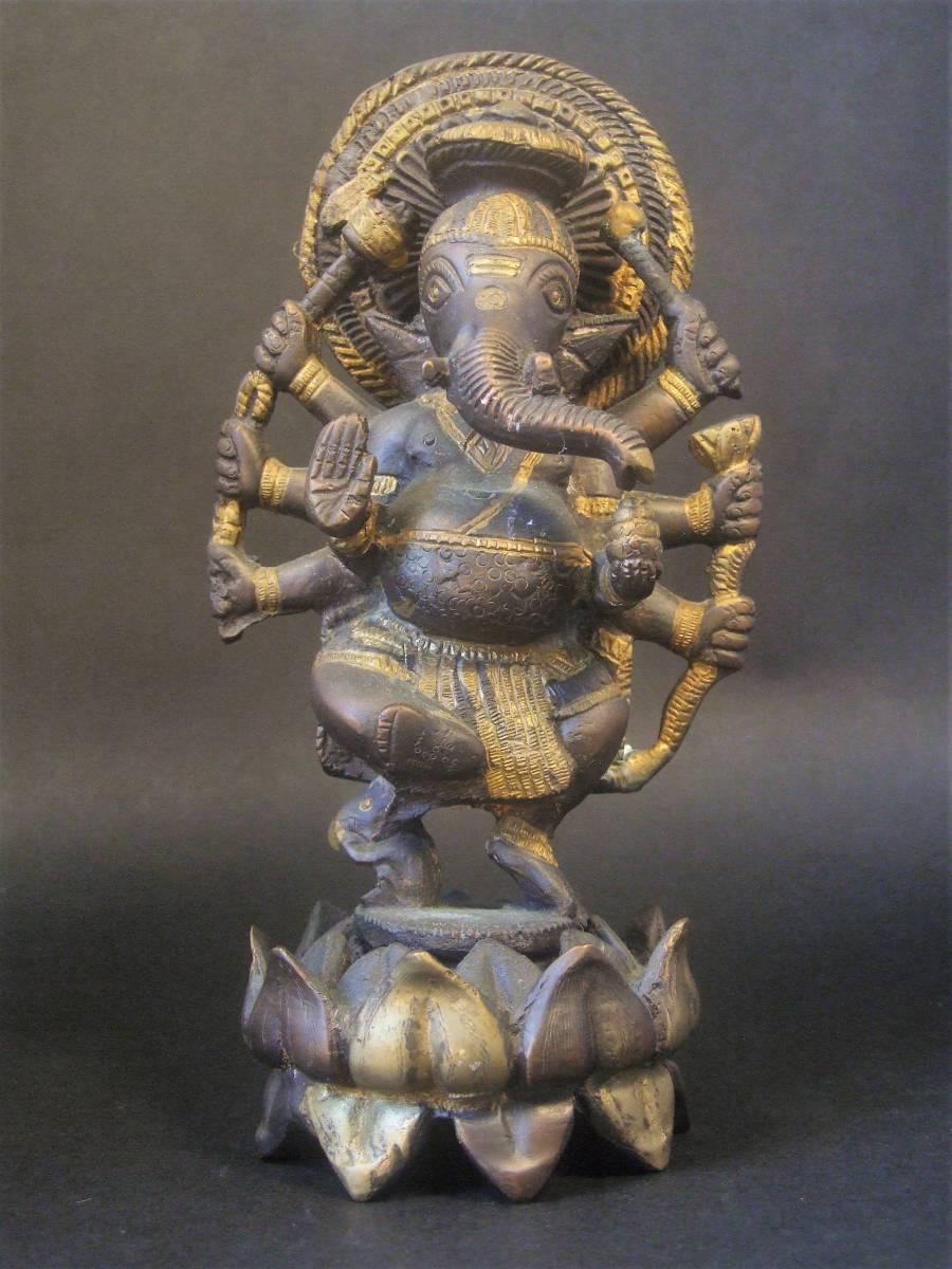 銅製 ガネーシャ像 ハピ _画像2