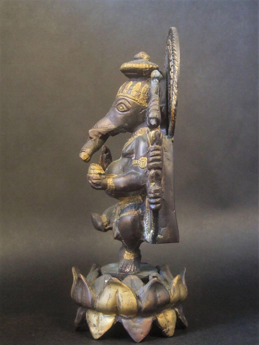 銅製 ガネーシャ像 ハピ _画像3