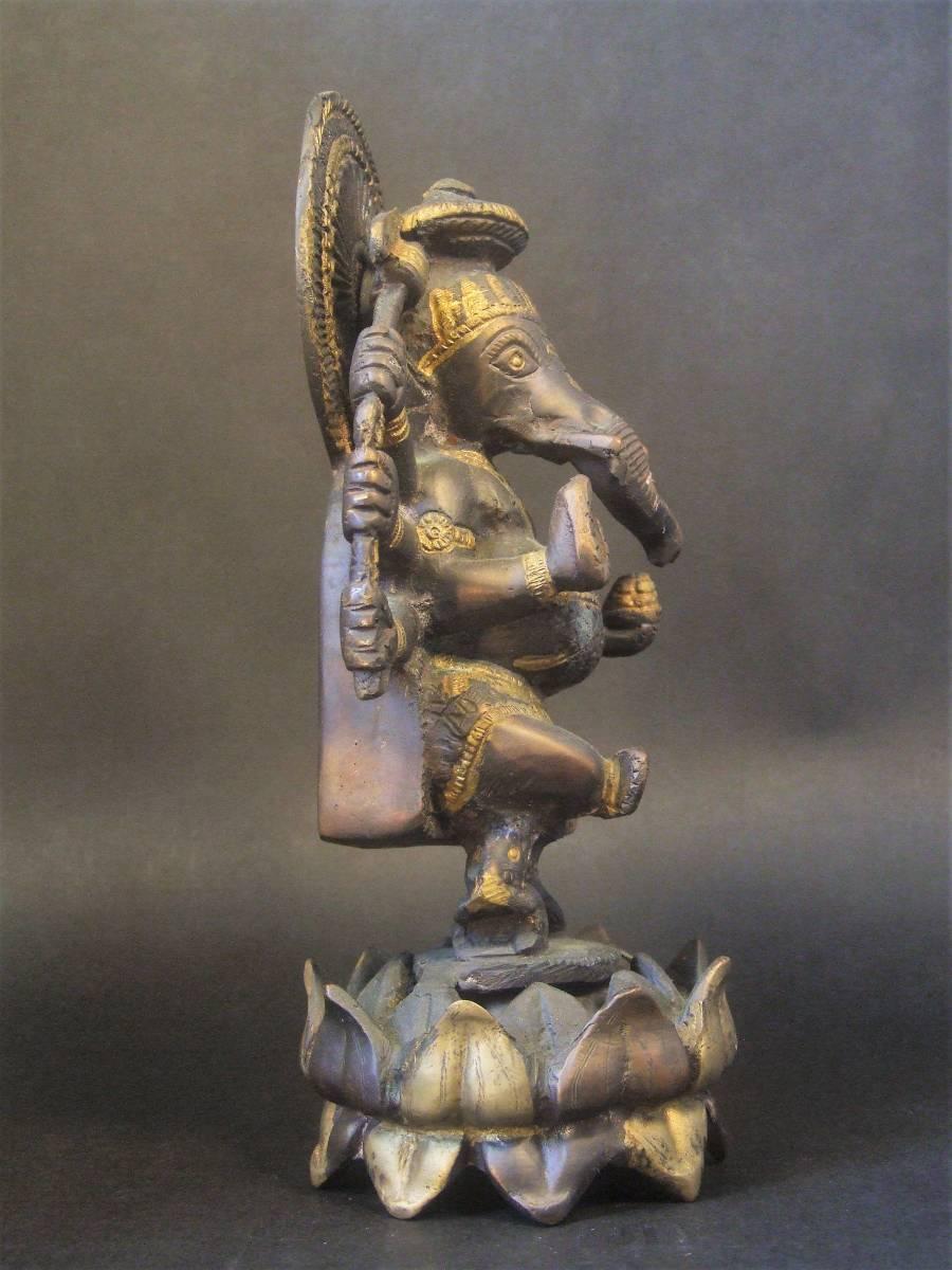 銅製 ガネーシャ像 ハピ _画像4