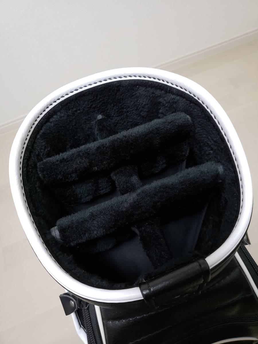 ★ 希少 ★パーリーゲイツ ◆ 限定ブラック ◆ キャディバッグ&ヘッドカバー 中古美品_画像10