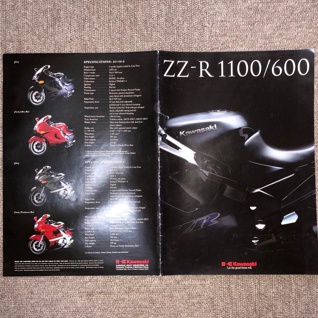 ZZ-R1100 サービスマニュアル パーツリスト カタログ ZX-11 ZZR1100 ZZ-R600 ZZR600 kawasaki カワサキ D5D7_画像5