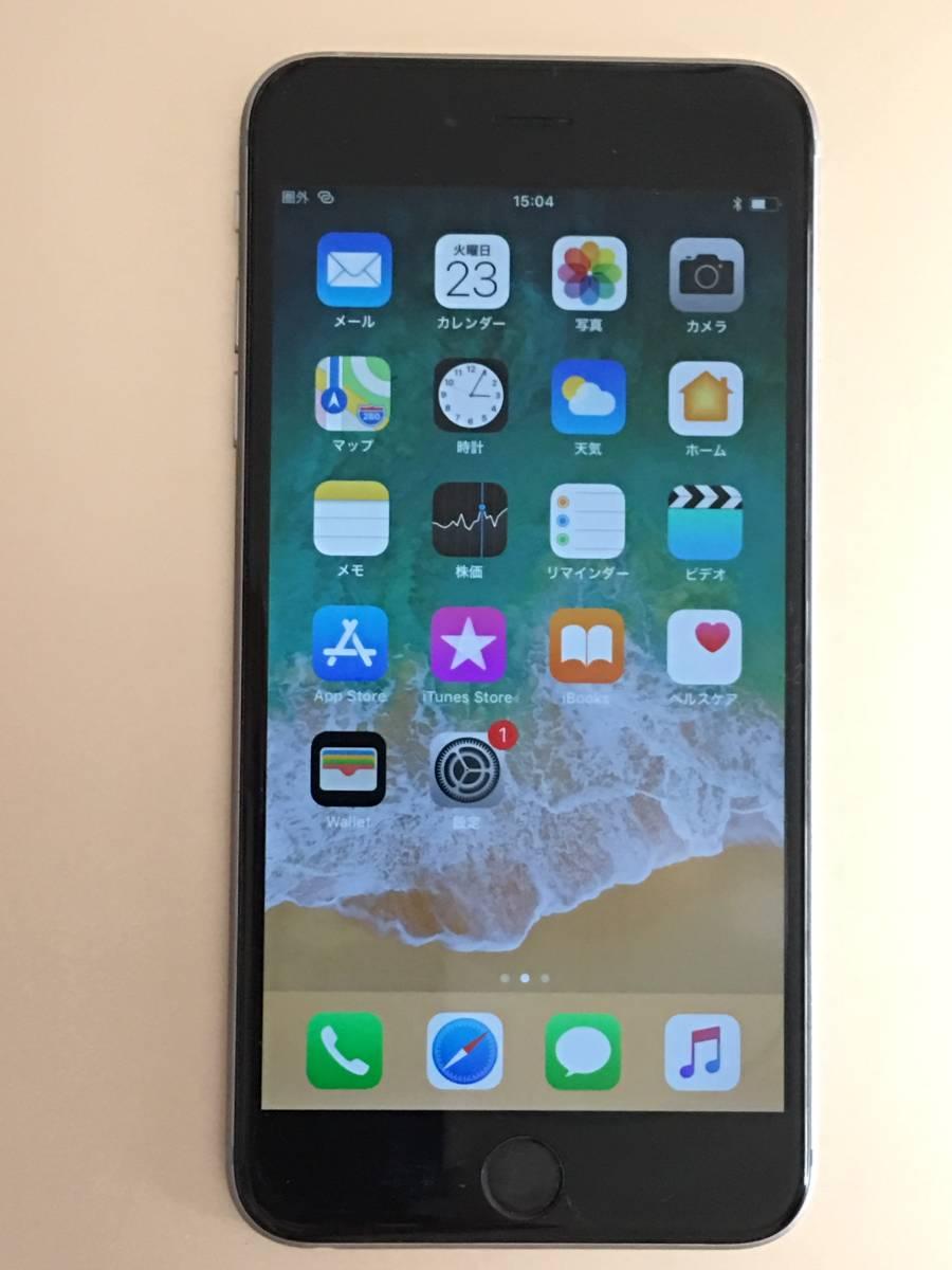ソフトバンク SIMロック解除済み iPhone6S Plus 16GB スペースグレイ バージョン11.4.1 管理番号1080