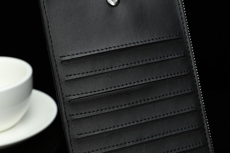 ※希少特注※ クロコダイル 長財布 ラウンドファスナー ワニ革×オーストリッチ内装 未使用 腹使用 一枚革 ゴールドファスナー_画像2