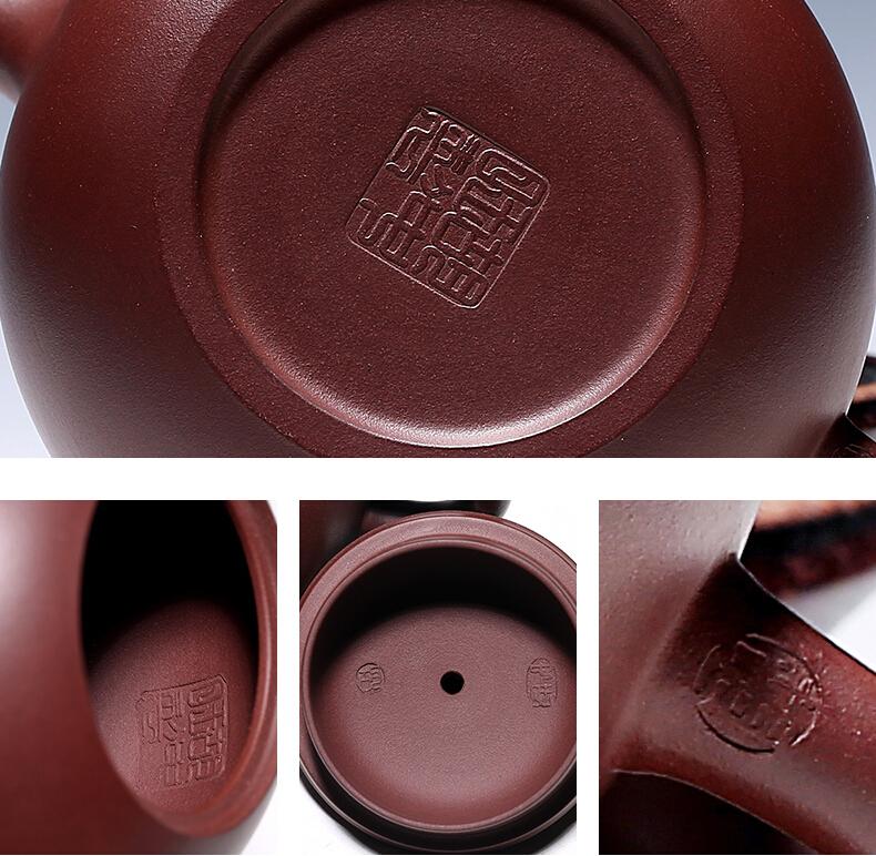 中国古玩 唐物 朱泥 急須 在銘 煎茶 道具