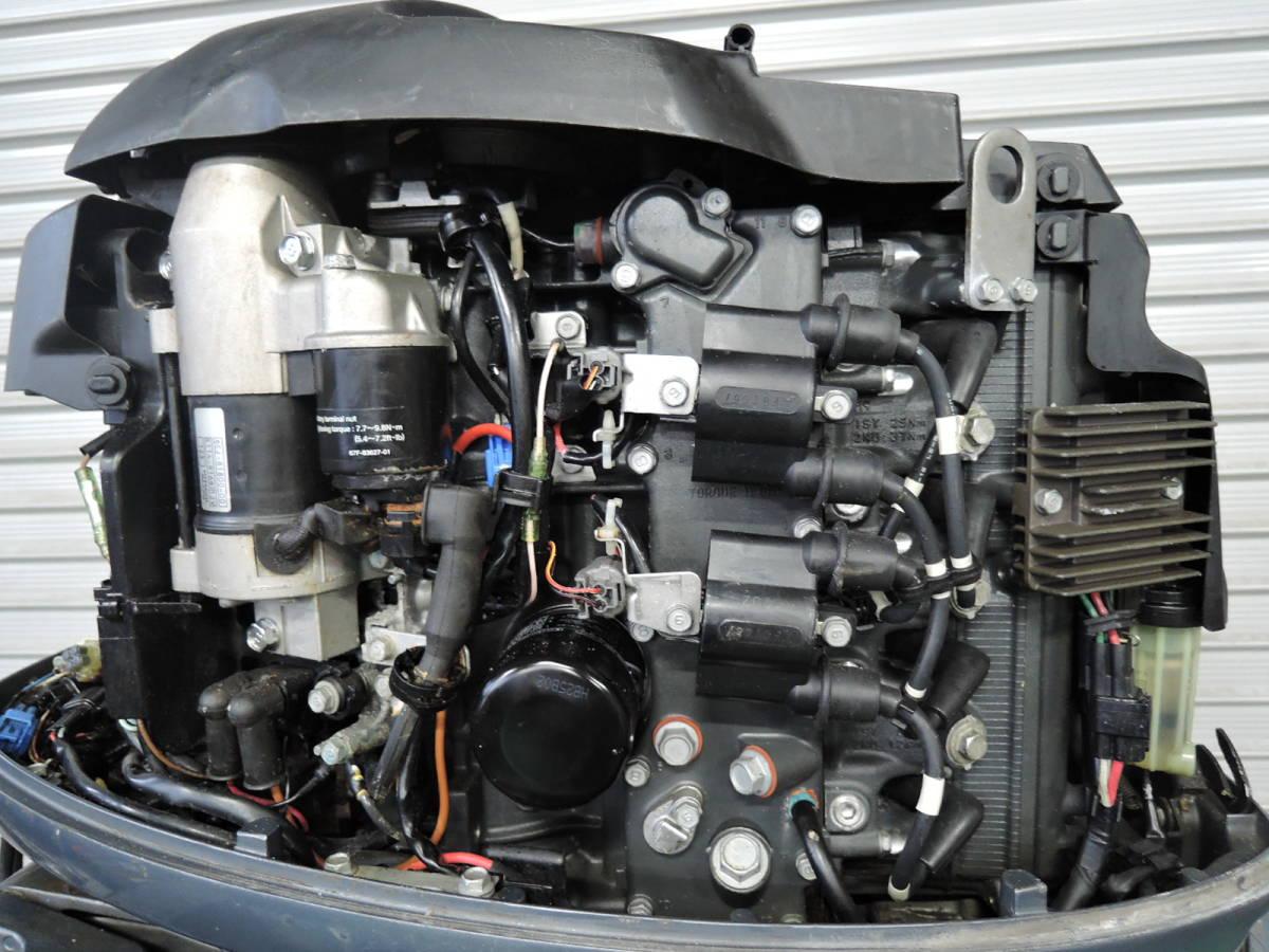 エンジン始動OK YAMAHA ヤマハ 船外機 70馬力 インジェクション 4スト ジャンク M220513 スズキ トーハツ ホンダ 40 50 60 80 90 100 115_画像4