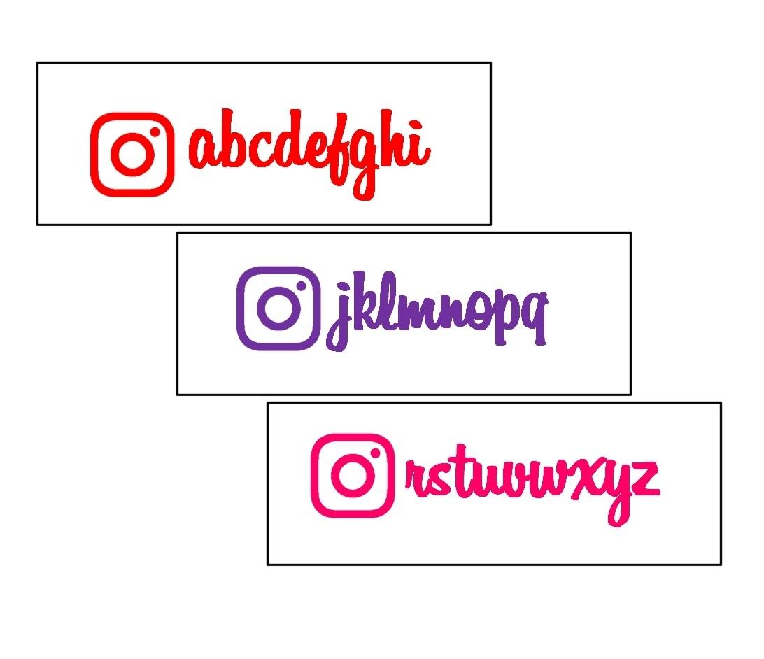 サイズ変更OK/色変更/文字列変更OK[5001]インスタグラム Instagram Instaglam アカウント ステッカー_画像2