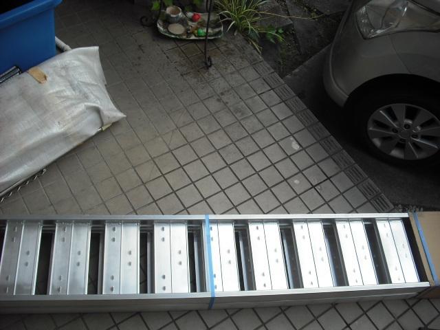 新品 未使用 2本セット 昭和アルミブリッジ SS-210-30-0.8t 昭和ブリッジ 長さ210cm×幅30cm 0.8t アルミラダー 歩み板 ラダーレール 道板 _画像2