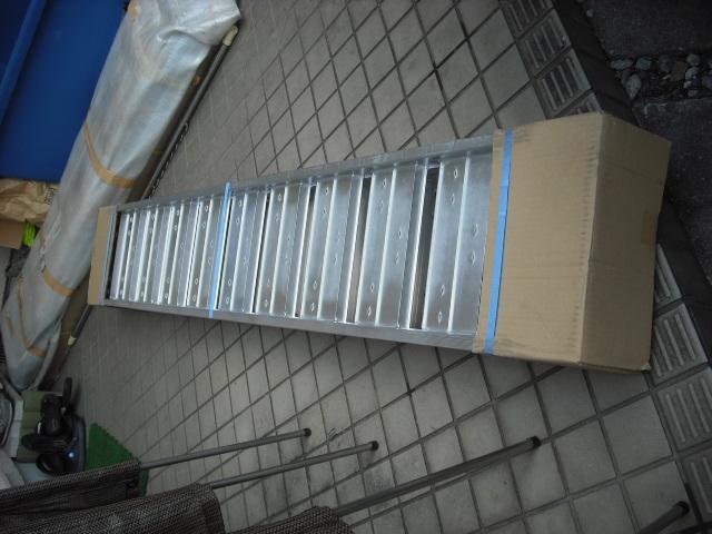 新品 未使用 2本セット 昭和アルミブリッジ SS-210-30-0.8t 昭和ブリッジ 長さ210cm×幅30cm 0.8t アルミラダー 歩み板 ラダーレール 道板 _画像7
