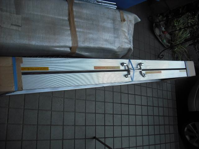 新品 未使用 2本セット 昭和アルミブリッジ SS-210-30-0.8t 昭和ブリッジ 長さ210cm×幅30cm 0.8t アルミラダー 歩み板 ラダーレール 道板 _画像8
