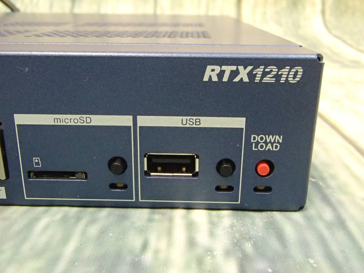 △YAMAHA ヤマハ ギガアクセスVPNルーター RTX1210 通電確認のみ△_画像2