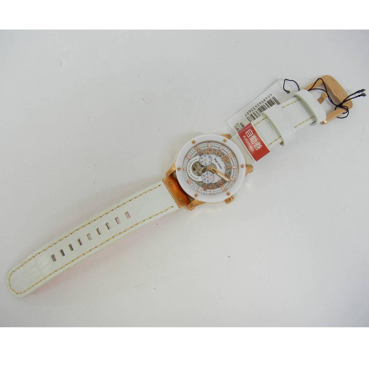 未使用♪【Angel Clover】エンジェルクローバー 腕時計 メンズ 自動巻 EVA43PWH-WH ①_画像3