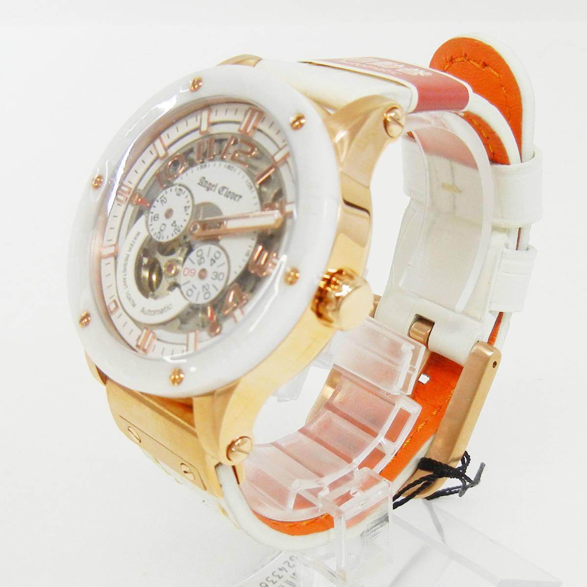 未使用♪【Angel Clover】エンジェルクローバー 腕時計 メンズ 自動巻 EVA43PWH-WH ①_画像9