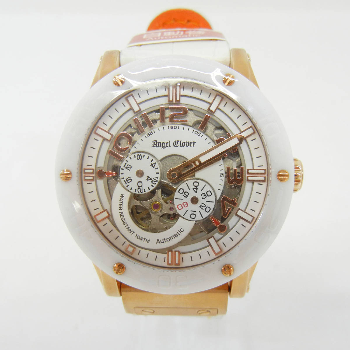 未使用♪【Angel Clover】エンジェルクローバー 腕時計 メンズ 自動巻 EVA43PWH-WH ①