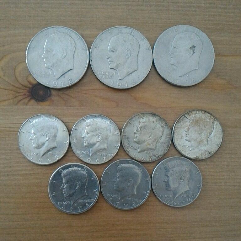 アメリカ硬貨 銀貨 1ドル 50セント 古銭