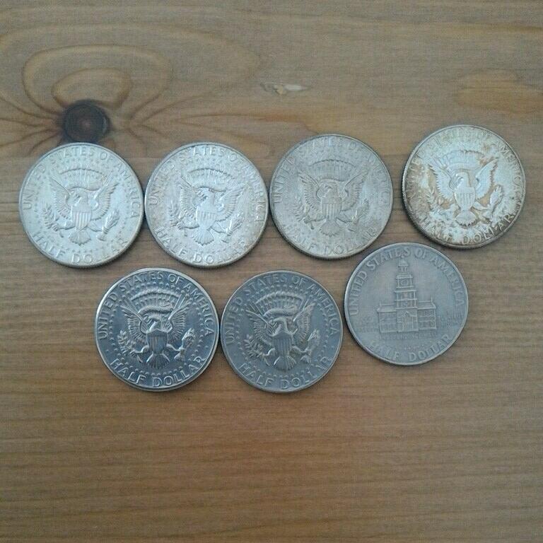アメリカ硬貨 銀貨 1ドル 50セント 古銭_画像5