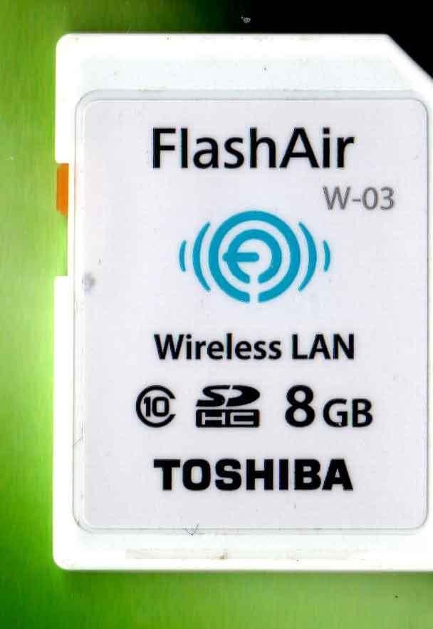 TOSHIBA FlashAir W-03 8GB 無線LAN搭載 中古