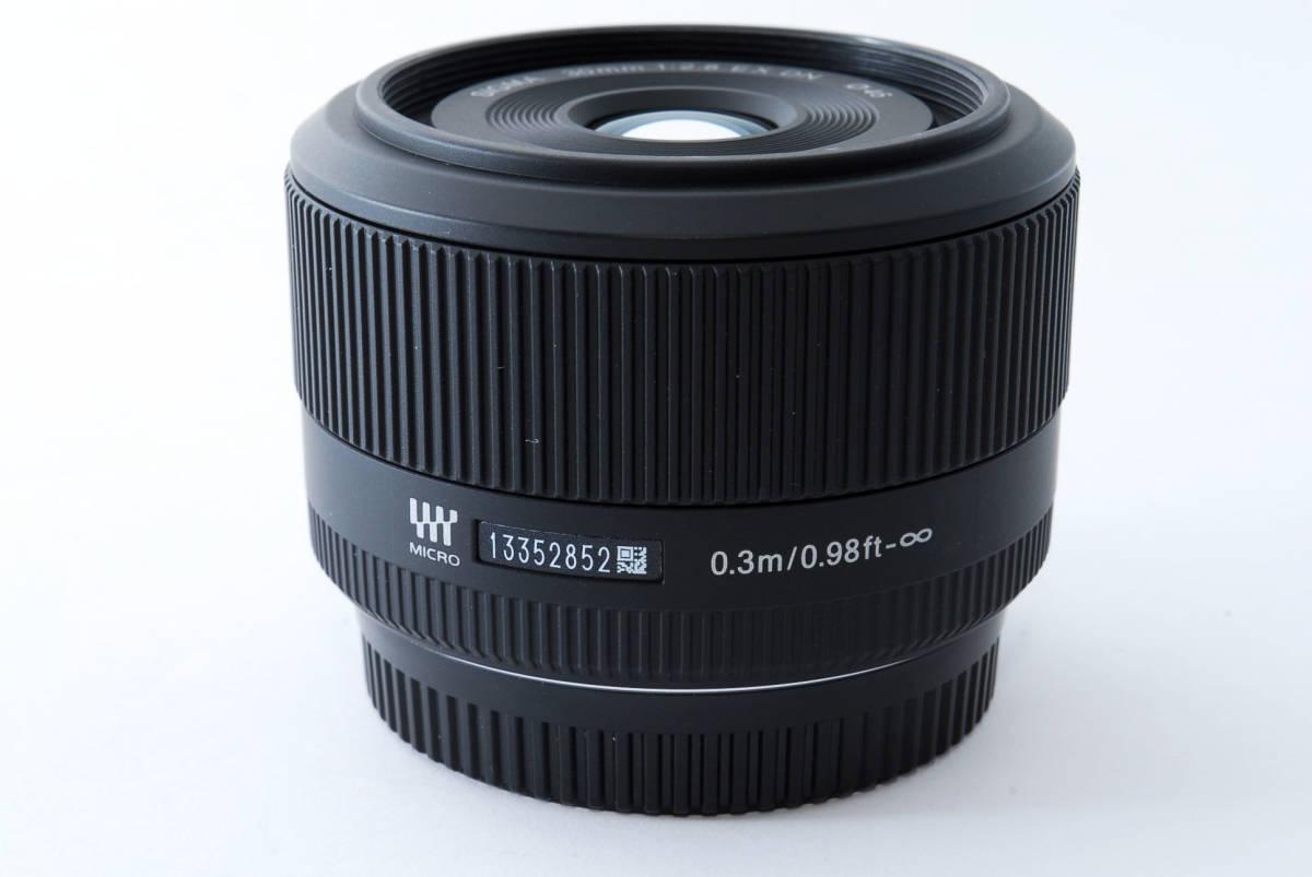 ★新品級★ シグマ SIGMA 30mm F2.8 EX DN マイクロフォーサーズ #3870_画像3