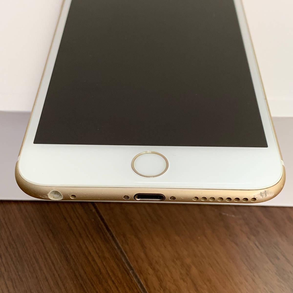 【SIMロック解除】判定○:iPhone6Plus 64GB ゴールド SoftBank ※ジャンク品_画像3
