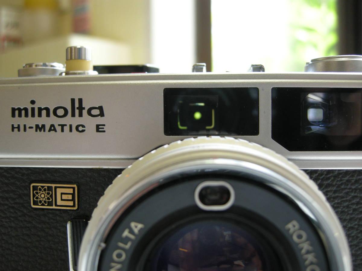 製備済み品、動作良好 ミノルタ ハイマチックE 和製ズミクロン銘玉Rokkor QF 40mm F1.7EEマチック動作品_画像2