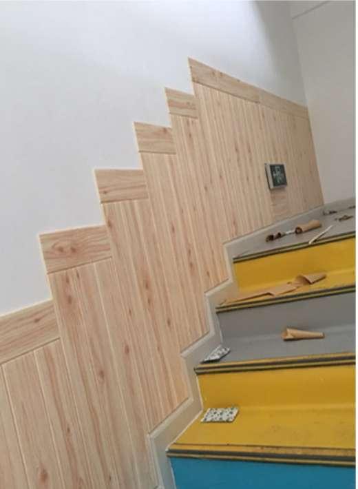 木目 立体 壁紙 リメイクシート 70㎝×70㎝×5㎜ 白 20枚 客間 台所_画像2