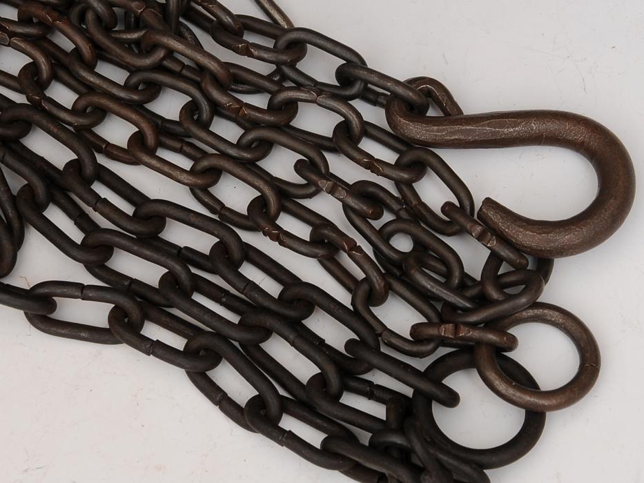 釣釜用 鎖(くさり)2本 釣 弦(つる)セット 茶道具 煎茶道具 金属工芸 現代工芸 b5322o_画像6