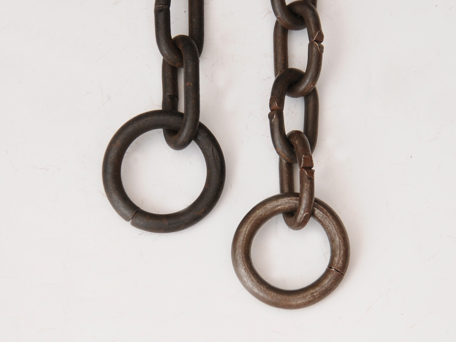 釣釜用 鎖(くさり)2本 釣 弦(つる)セット 茶道具 煎茶道具 金属工芸 現代工芸 b5322o_画像4