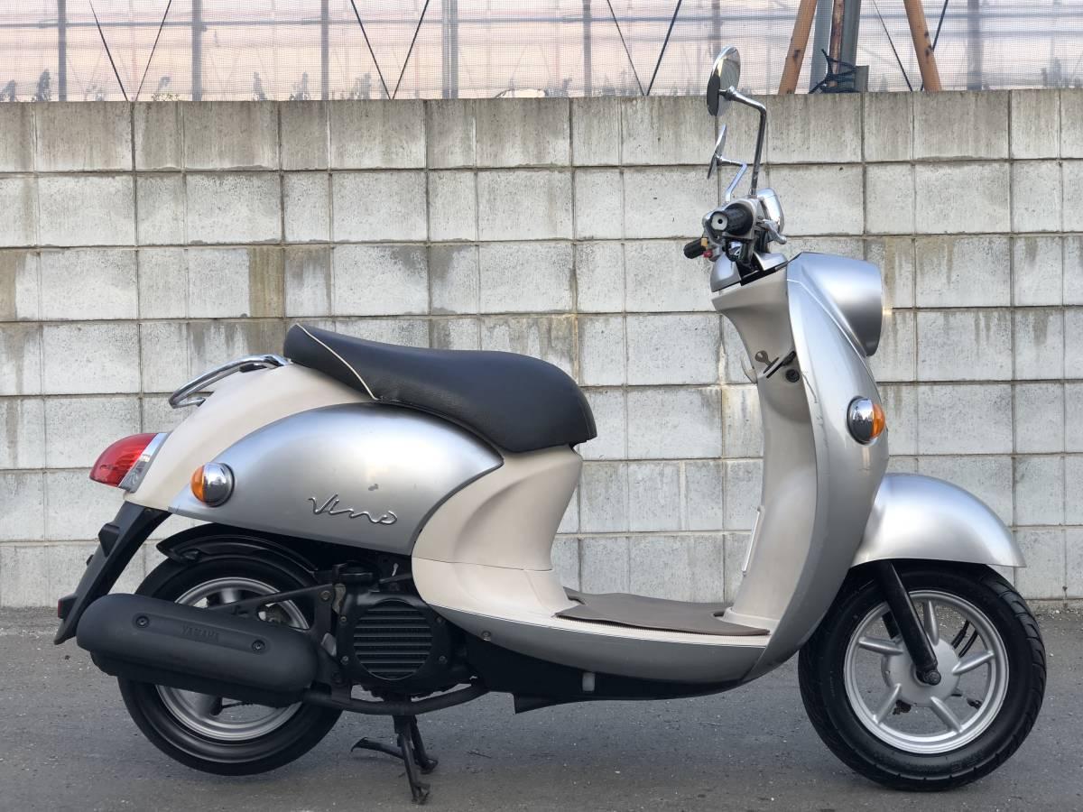 ヤマハ ビーノ VINO SA26J 水冷4サイクル エンジン始動 千葉県 登録書類付き _画像4