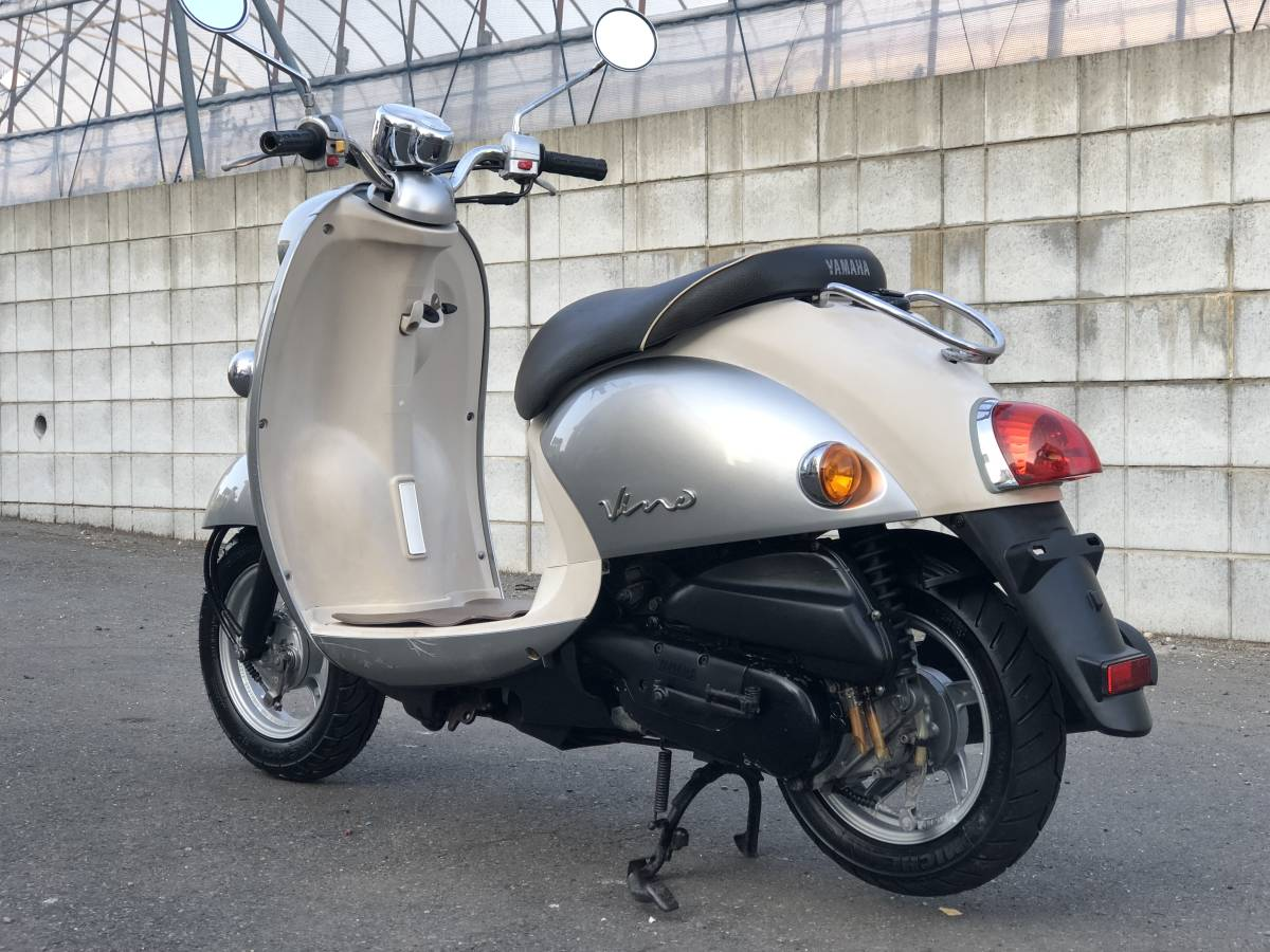 ヤマハ ビーノ VINO SA26J 水冷4サイクル エンジン始動 千葉県 登録書類付き _画像5