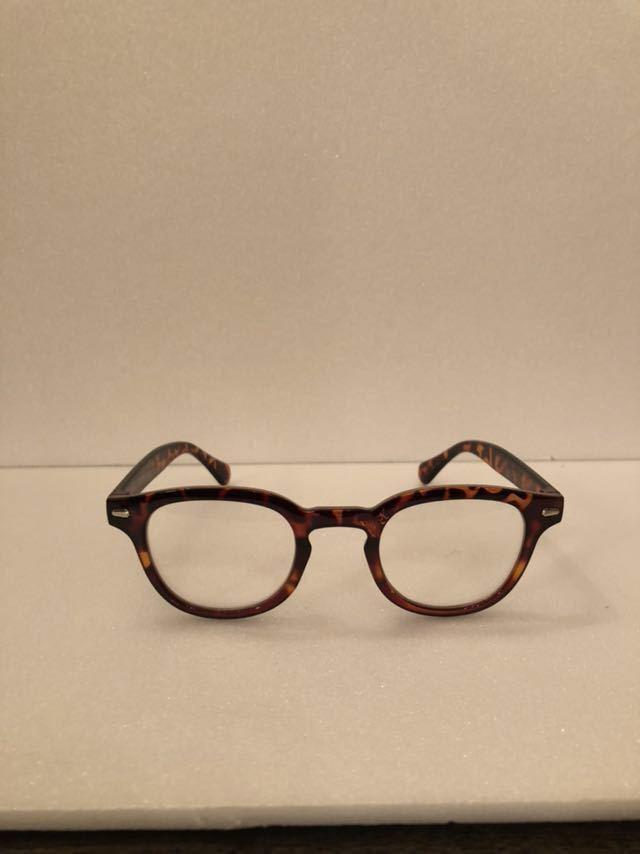 新品未使用 送料無料 檄渋 ウェリントン リーディンググラス 鼈甲色 老眼鏡 +2.50 ROCK'N ROLL