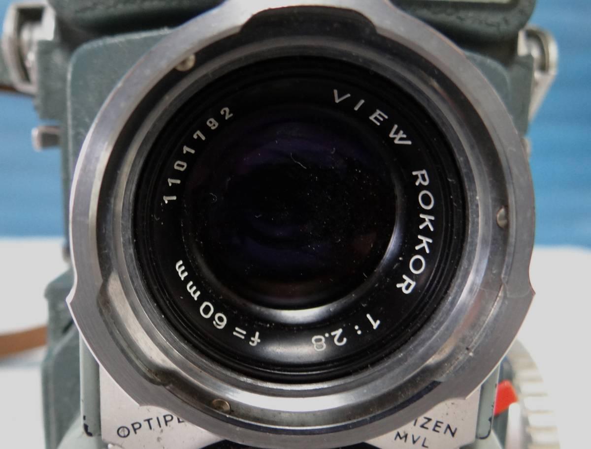 minolta ミノルタ miniflex ミニフレックス 二眼レフカメラ レンズ NIKKOR 1:3.5 f=60㎜ 中古ジャンク_画像9